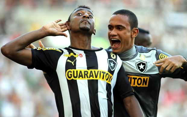 Elias comemoração Botafogo contra Criciúma (Foto: Vitor Silva / SS Press)