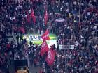 Manifestantes fazem ato contra Temer em SP; na dispersão, PM usa bombas