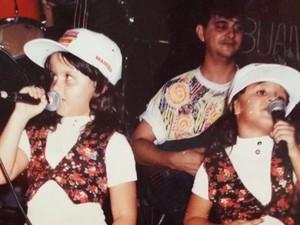 Gêmeas mostraram interesse pela música sertaneja ainda na infância (Foto: Divulgação/Arquivo Pessoal)