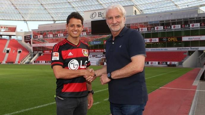 Chicharito Hernandez Bayer Leverkusen (Foto: Reprodução / Facebook)