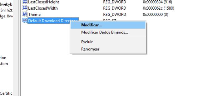 Opção para modificar o arquivo de registro (Foto: Reprodução/André Sugai)