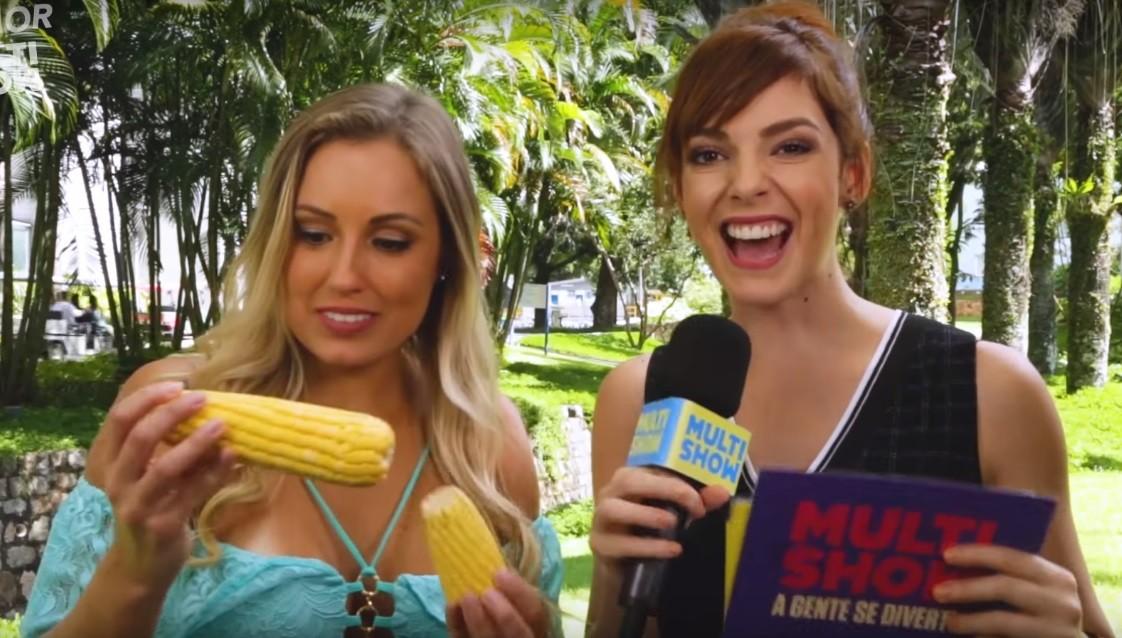 Jssica encara as notcias da semana e tenta adivinhar as verdadeiras em busca do prmio de 'um milho e meio' (Foto: Multishow)