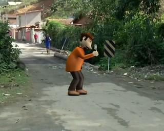 Zé do Bairro voltou ao distrito de Engenheiro Passos (Foto: RJTV 1ª Edição)
