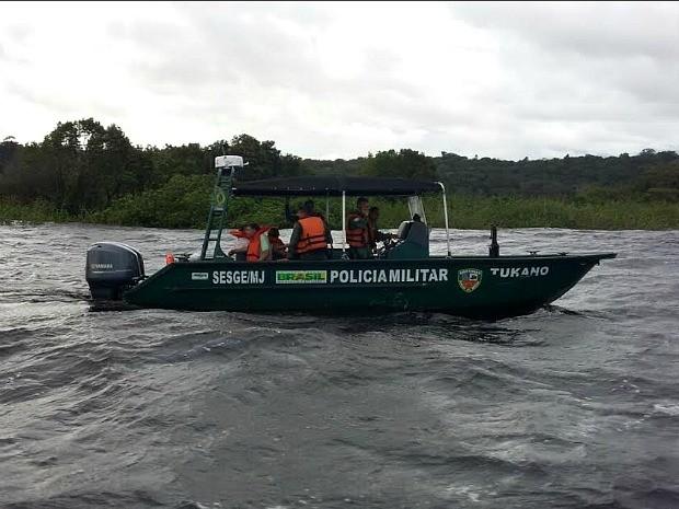 Batalhão Ambiental da PM foi acionado para realizar o resgate (Foto: Divulgação/Batalhão Ambiental)