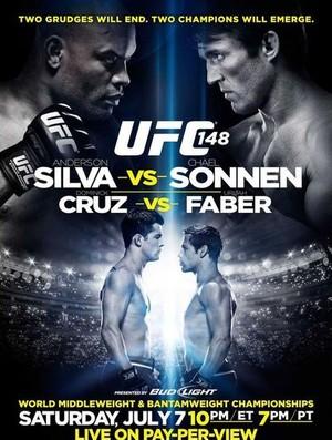 Pôster UFC 148 (Foto: Divulgação/UFC)