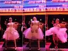 Noiva na boate? Bárbara Paz grava cena em casa de strip e encarna Marilyn Monroe