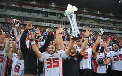 Mariners x Espectros - Final da Liga Nordeste Futebol Americano (Foto: Aldo Carneiro/Pernambuco Press)
