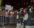 CE: protesto em Fortaleza tem confronto (Andre Teixeira/G1)