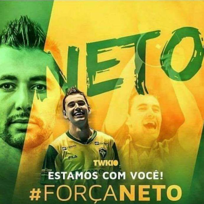 Banner Neto futsal recuperação (Foto: Reprodução Facebook)
