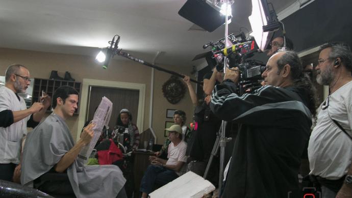Foto dos bastidores do filme 'Em Nome da Lei' (Foto: Elis Regina)
