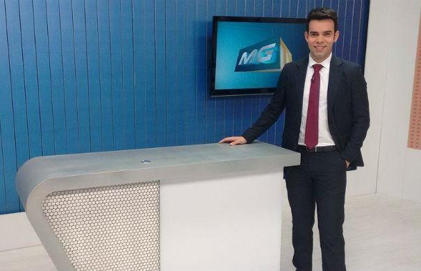 Thiago França é o novo apresentador do MG Inter TV 2ª edição (Foto: Ricardo Caroba/Inter TV Grande Minas)