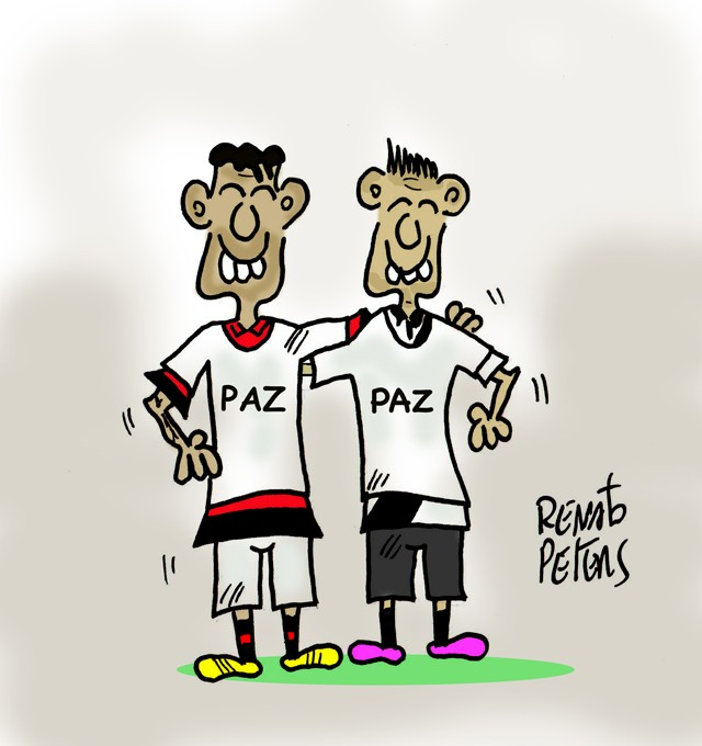 A mesma camisa - charge Peters