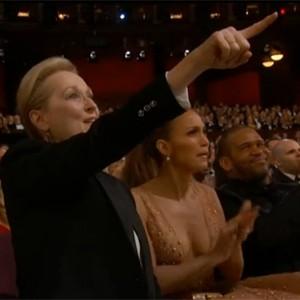 Meryl Streep vira 'rainha do meme' com empolgação na cerimônia (Reprodução)