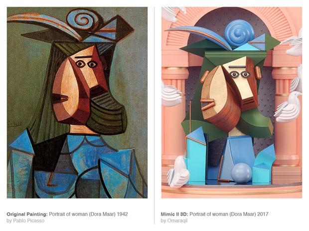 Design transforma pinturas de Picasso em imagens 3D (Foto: Divulgação)