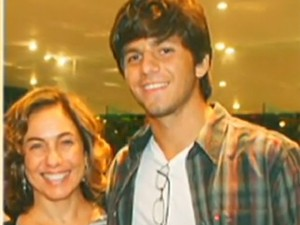 Rafael Mascarenhas, filho de Cissa, morreu em outubro de 2010 (Foto: Reprodução / TV Globo)