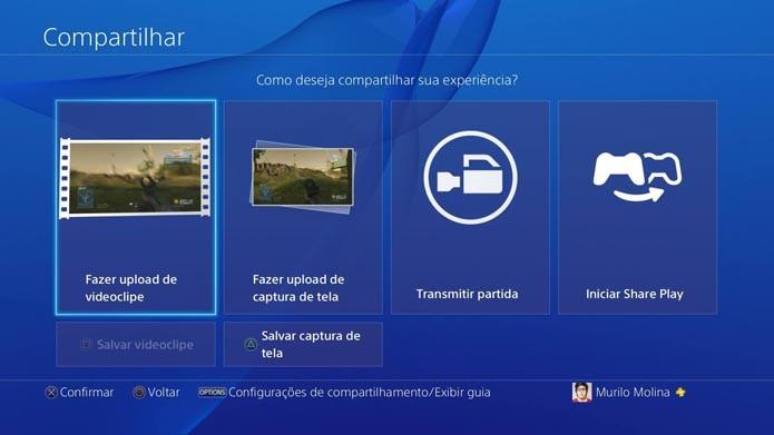 PlayStation 4: como fazer upload de vídeos para o DailyMotion (Foto: Reprodução/Murilo Molina)
