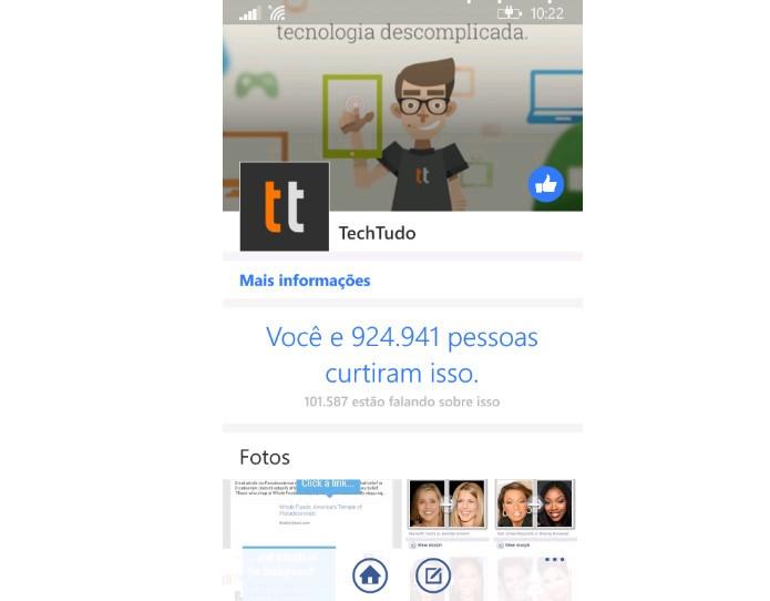 Aplicativos das redes sociais mais populares estão no Windows Phone (Foto: Reprodução / Dario Coutinho)
