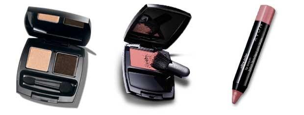 Duo de sombras Coleção Chocolate;Ideal Luminous Blush Pêssego e Lip Crayon Batom Lápis Rose  (Foto: Divulgação)