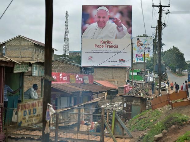 A favela de Kangemi, no Quênia, será um dos locais que o papa visitará na África (Foto: AFP Photo/Tony Karumba)