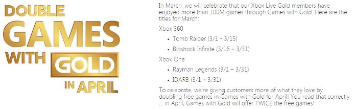 Bioshock Infinite e Tomb Raider serão dois dos games de março da Xbox Live Gold (Foto: Reprodução/Eurogamer)