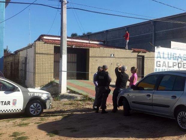 Corpo foi encontrado na tarde desta terça-feira (25) (Foto: Heloisa Guimarães/Inter TV Cabugi)