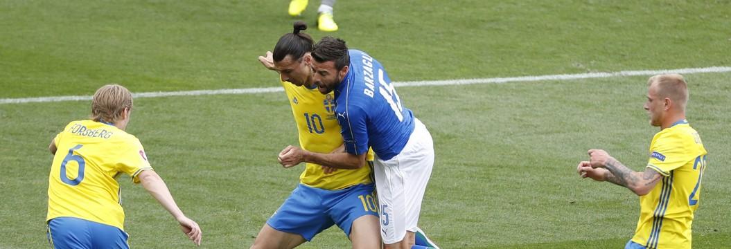 Itália vence a Suécia pelo Grupo E da Eurocopa (Vincent Kessle/Reuters)