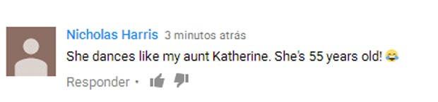"""""""Ela dança como minha tia Katherine. Ela tem 55 anos!"""", comentou  (Foto: Reprodução)"""