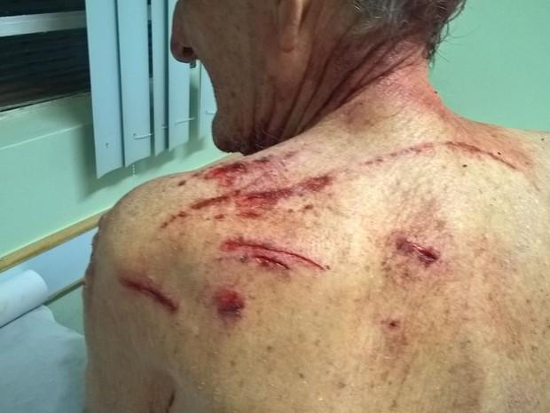 Idoso é esfaqueado durante assalto em Sorocaba (Foto: Arquivo Pessoal)