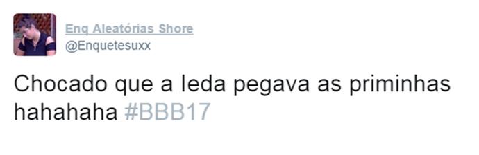 Tuíte Ieda (Foto: Reprodução Twitter\@Enquetesuxx)