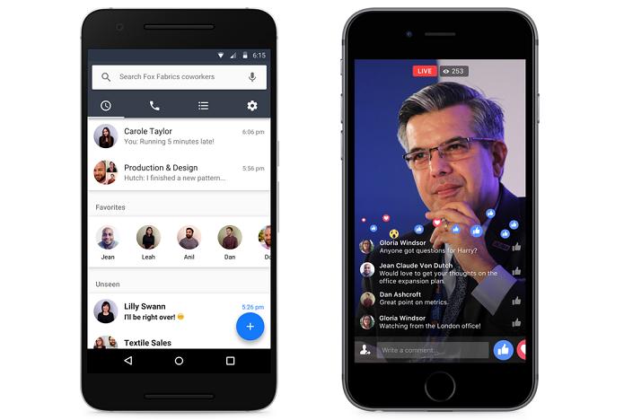 Workplace também está disponível para Android e iOS (Foto: Divulgação/Facebook)