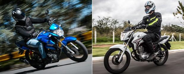 Yamaha Fazer 150 e Honda CG 150 (Foto: Divulgação/Raul Zito/G1)