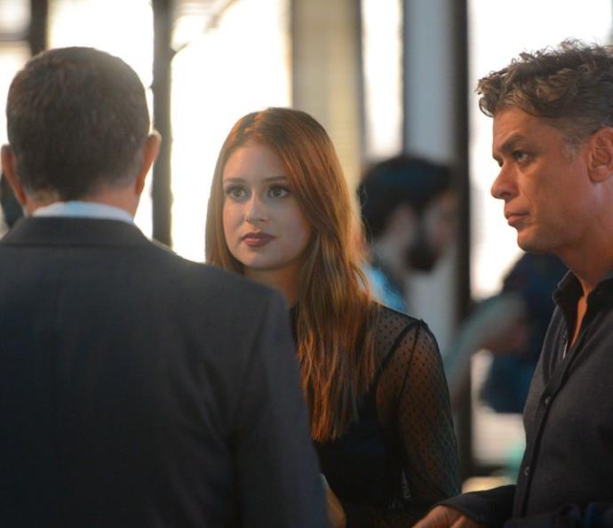 O presidente da Bastille é pai de Eliza, filha de Gilda (Foto: Pedro Carrilho/Gshow)