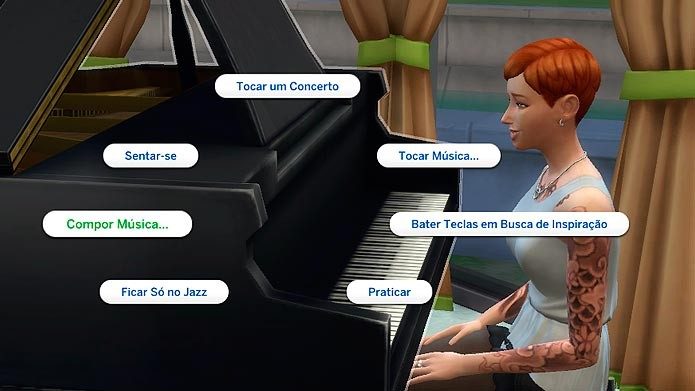Escolha a opção Compor música para começar (Foto: Reprodução/Tais Carvalho)
