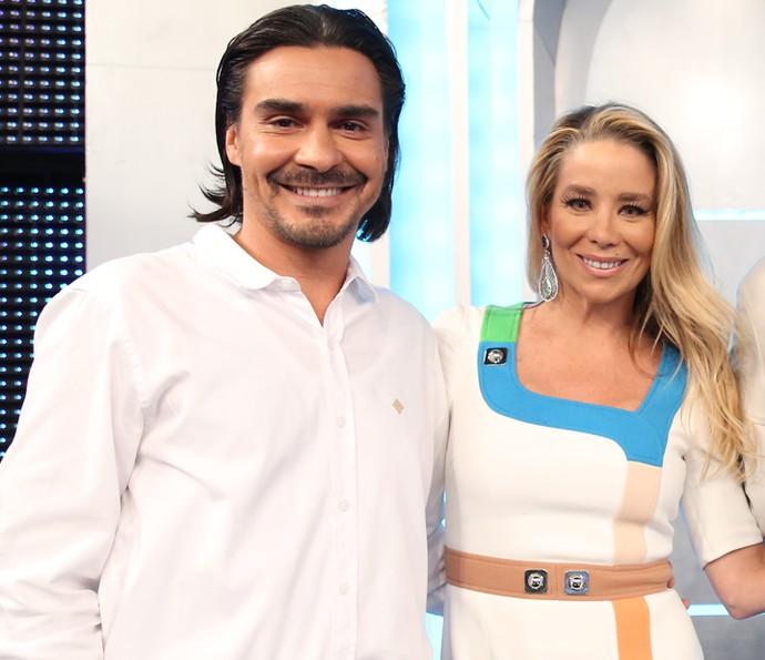 André Gonçalves e Danielle Winits começaram a namorar após participar de quadro do 'Mais Você' (Foto: Carol Caminha/Gshow)