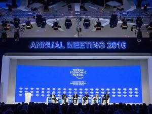Fórum Econômico Mundial de 2016, em Davos (Foto: Fabrice Coffrini/AFP)