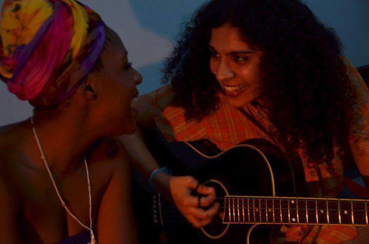 Rafaela Melo e sua amiga (Foto: Arquivo Pessoal)