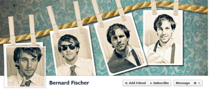 A foto de capa interage com a foto do perfil (Foto: Reprodução/Catraca Livre)
