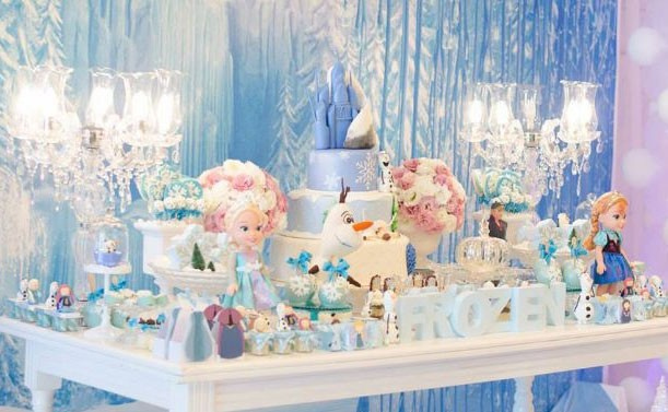 mesa; festa; aniversário; Frozen (Foto: Reprodução/ Pinterest)