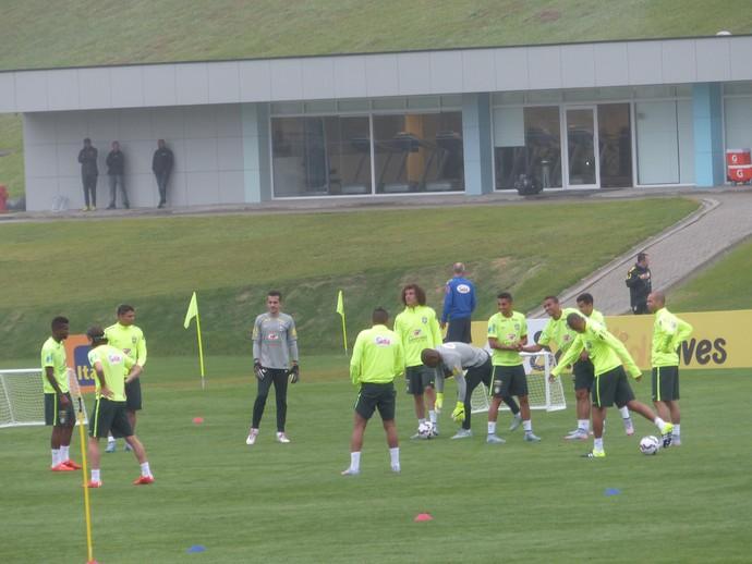 treino seleção brasileira (Foto: Richard Souza / GloboEsporte.com)
