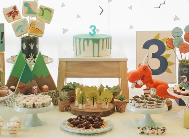 Elementos em verde marcam a decoração da festa (Foto: Arquivo Pessoal)