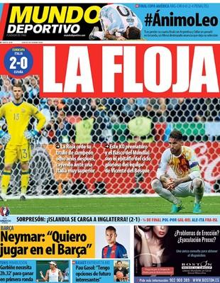 Capa Jornal Espanha (Foto: Reprodução)