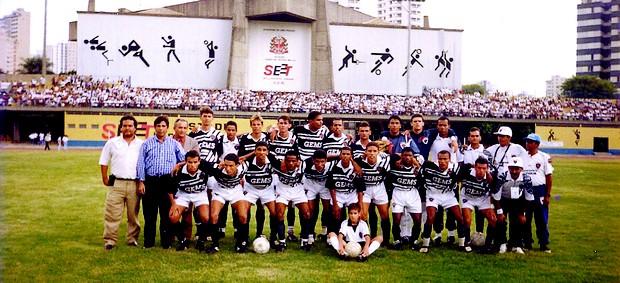 Botafogo-PB na Copa SP de 1997 (Foto: Divulgação)