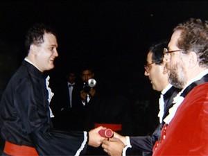 O empresário Maurício Beltramelli que deixou o direito (Foto: Reprodução EPTV)