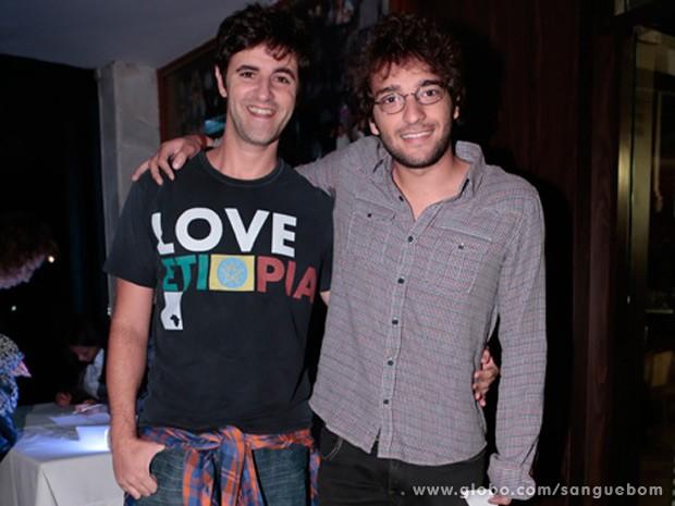 Rodrigo Lopez e Humberto Carrão (Foto: Felipe Monteiro / TV Globo)
