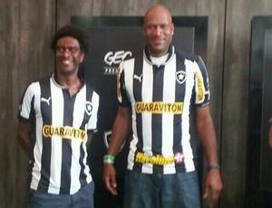 Helio de La Pena e Ron Harper - Botafogo (Foto: Globoesporte.com)