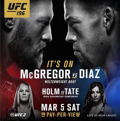 Poster UFC 196 (Foto: Reprodução/ Instagram)