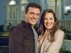 Romance? Rodrigo Lombardi e Claudia Raia comentam affair de Lívia e Théo