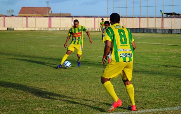 Estanciano empatou e garantiu o acesso (Foto: Felipe Martins/Globoesporte.com/SE)