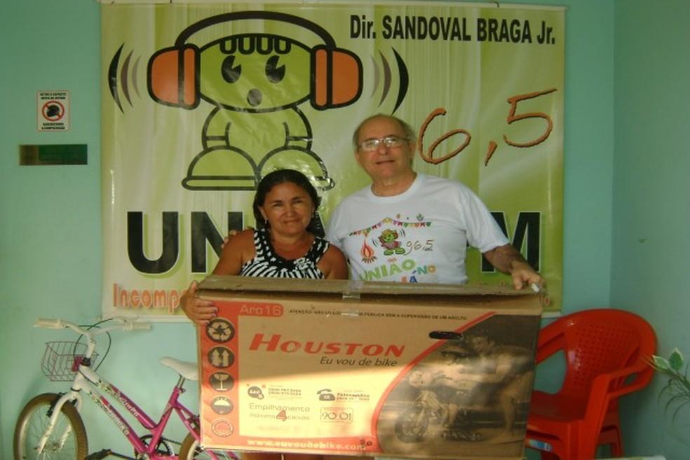 Sandoval Braga, dono da rádio União FM, sofreu atentado no local onde trabalha — Foto: Arquivo pessoal