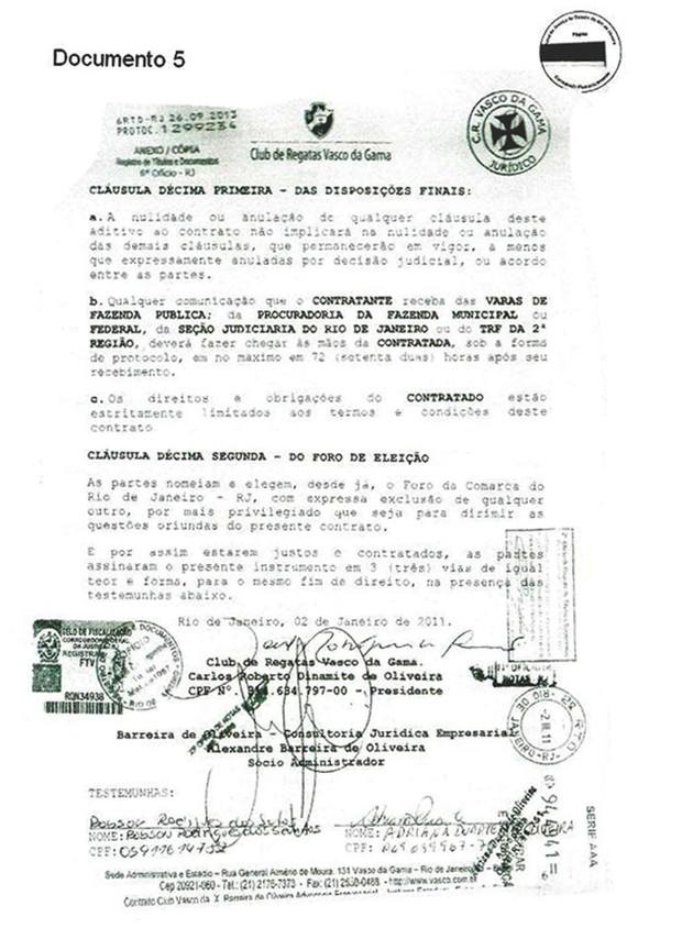 Documento Vasco 5 (Foto: GloboEsporte.com)